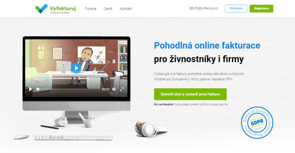 Vyfakturuj.cz fakturační systém pro firmy
