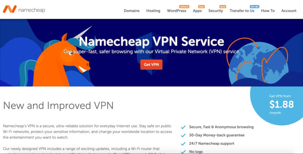 Namecheap VPN recenze