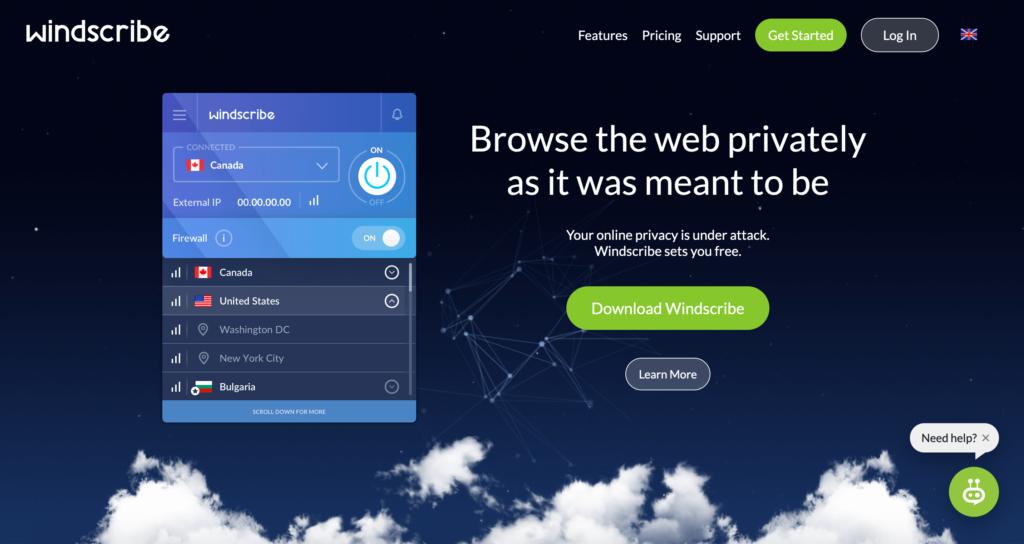 WindScribe VPN recenze