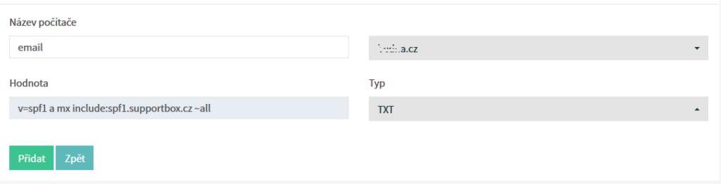 Recenze SupportBox nastavení SPF záznamů