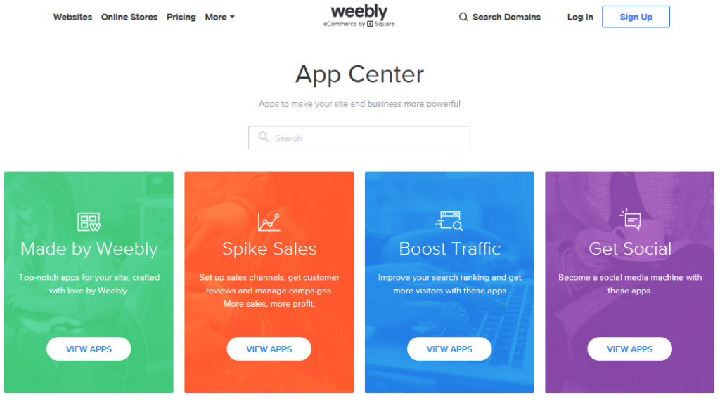 Recenze Weebly App Center