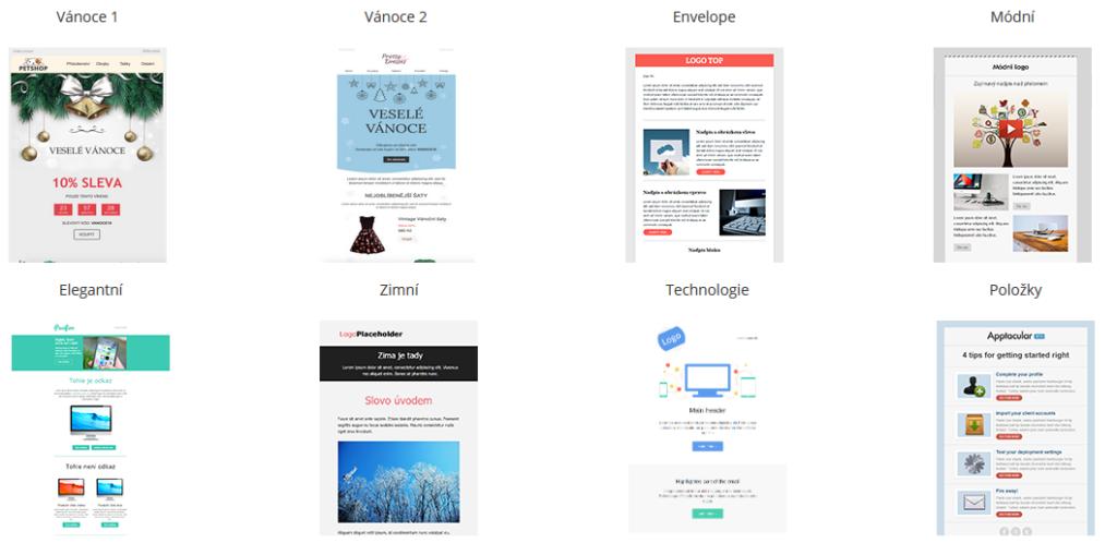 SmartEmailing recenze emailové šablony