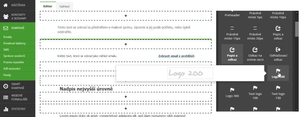 SmartEmailing recenze návod jak vytvořit emailovou šablonu část 2