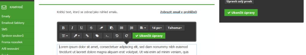SmartEmailing recenze návod jak vytvořit emailovou šablonu část 3
