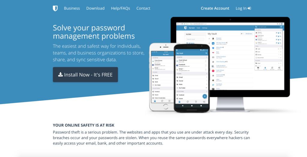 Password manager Bitwarden.com