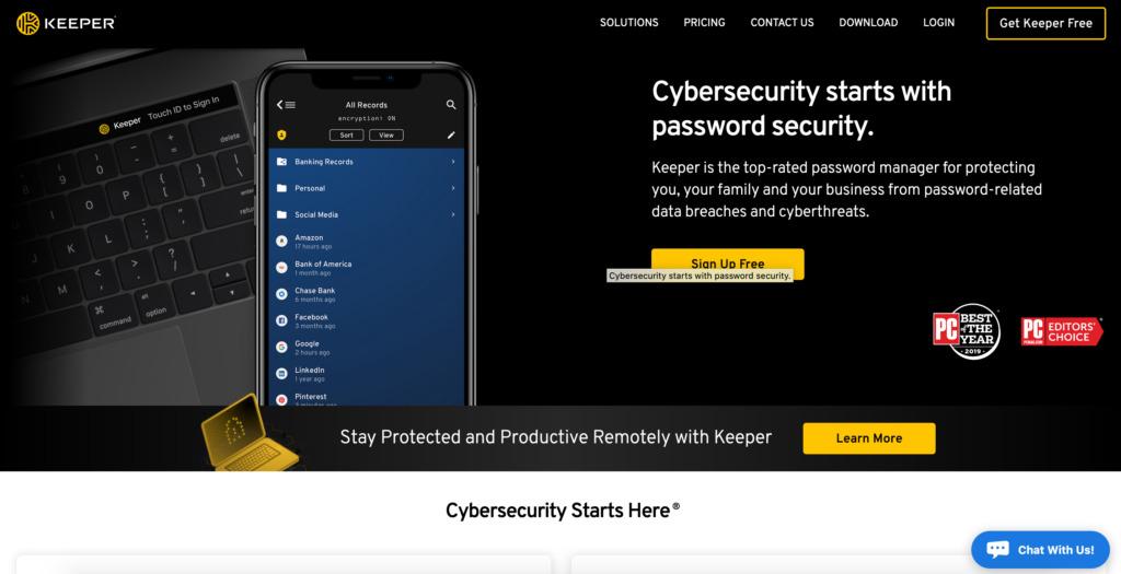 Password manager Keepsecurity.com