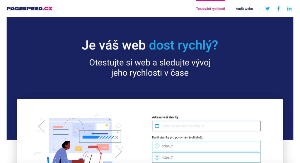 Pagespeed.cz nástroj na měření ryhlosti webových stránek