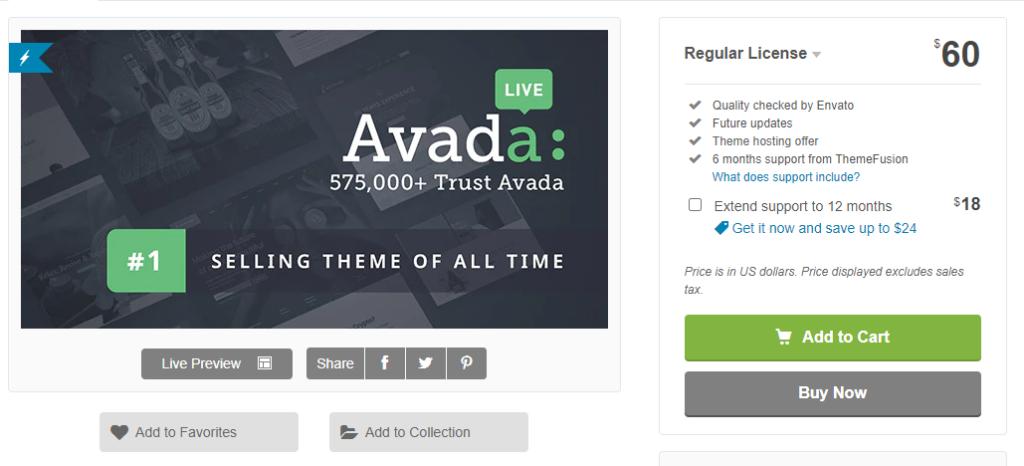 WordPress šablona Avada recenze cena