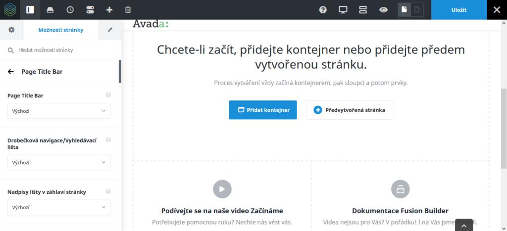 WordPress šablona Avada recenze Fusion Builder Live