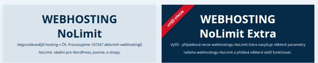 Wedos recenze varianty webhostingů