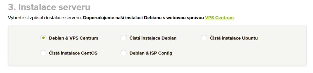 Váš Hosting recenze VPS instalace
