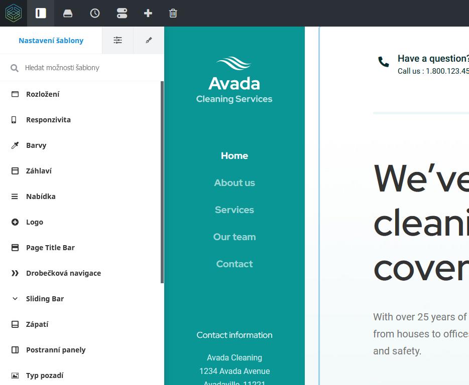 WordPress šablona Avada recenze Fusion Theme nastavení