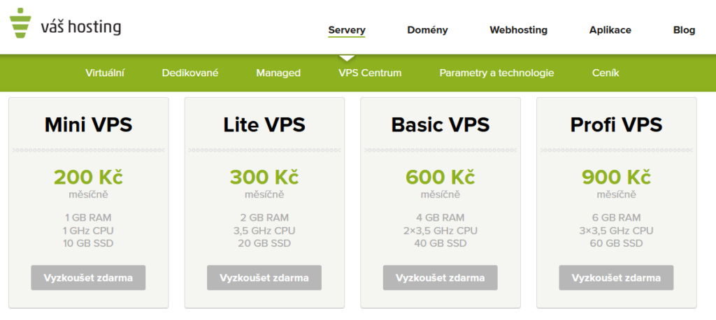 Váš Hosting recenze VPS ceny