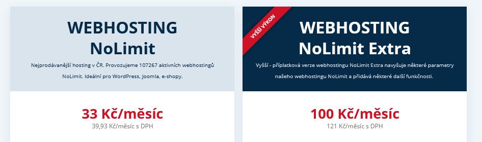 Wedos recenze ceny webhostingů