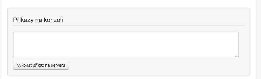 Váš Hosting recenze VPS konzole
