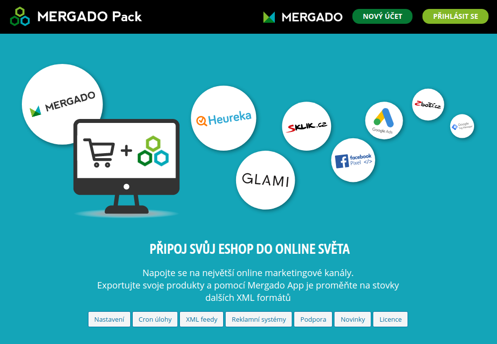 Mergado Pack - administrace