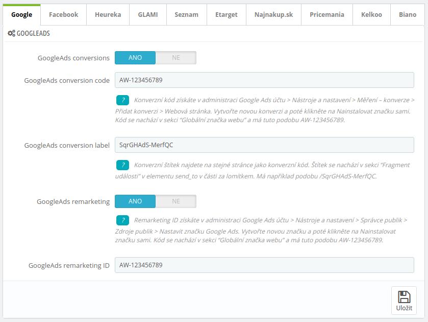 Mergado Pack - konfigurace Google Ads v Prestashop