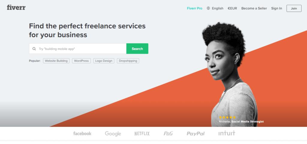 Fiverr.com globální platforma pro nákup mikroprác