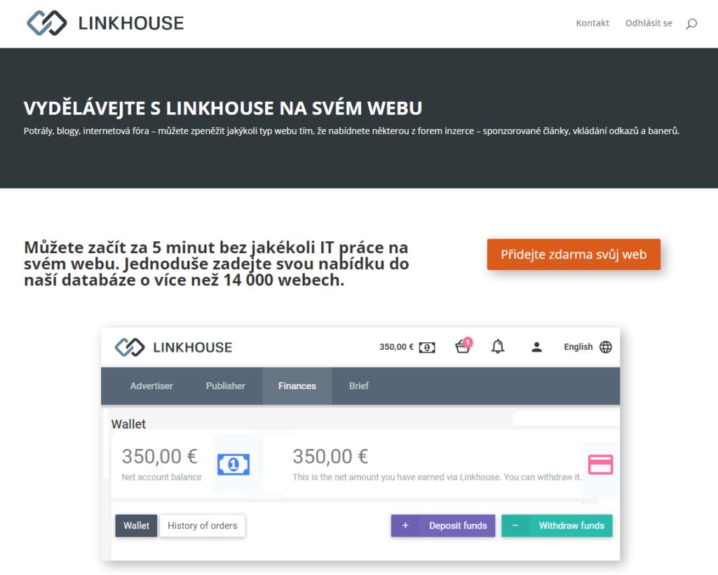 Linkhouse.cz platforma pro tvorbu obsahu