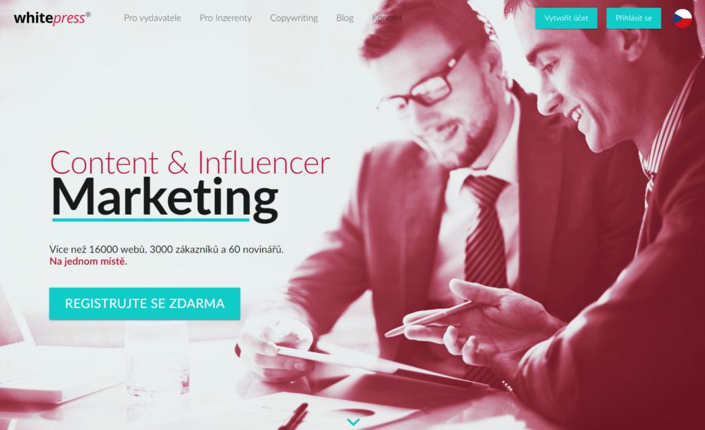 WhitePress.cz platforma zabezpečující content a influencer marketing