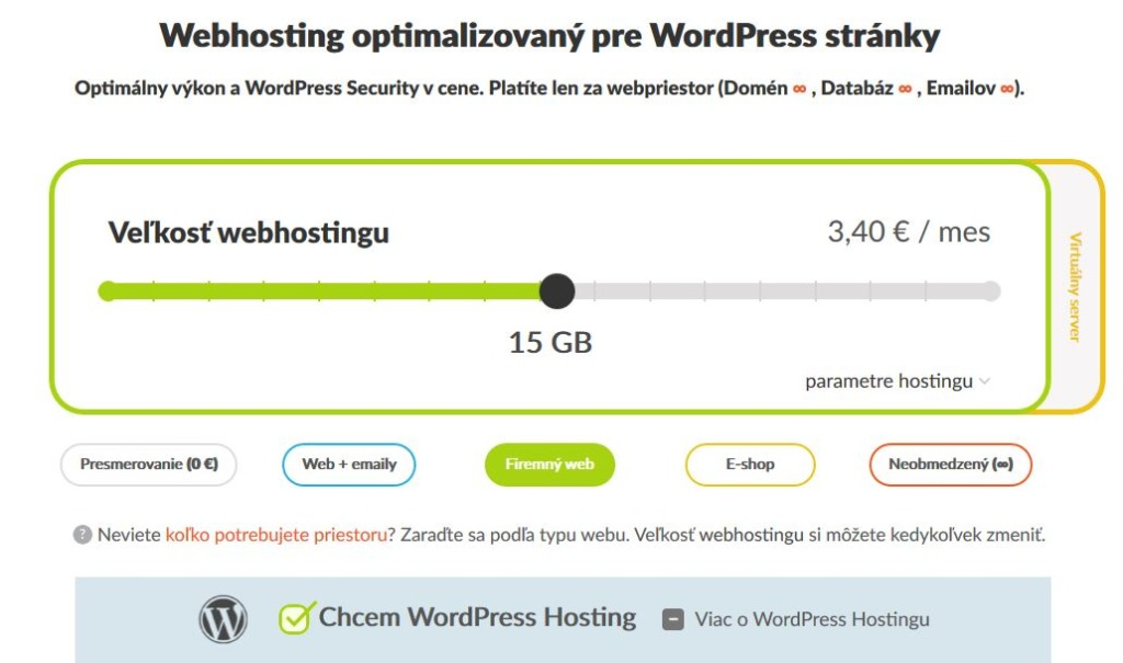Recenze HostCreators WordPress webhosting