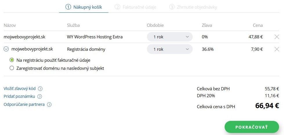 Recenze WY objednávka WordPress hostingu II.