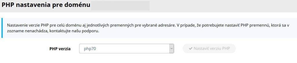Recenze WY WebPanel nastavení PHP