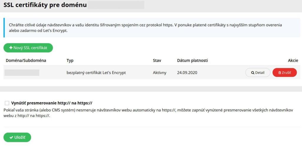 WY recenze WebPanel SSL certifikát