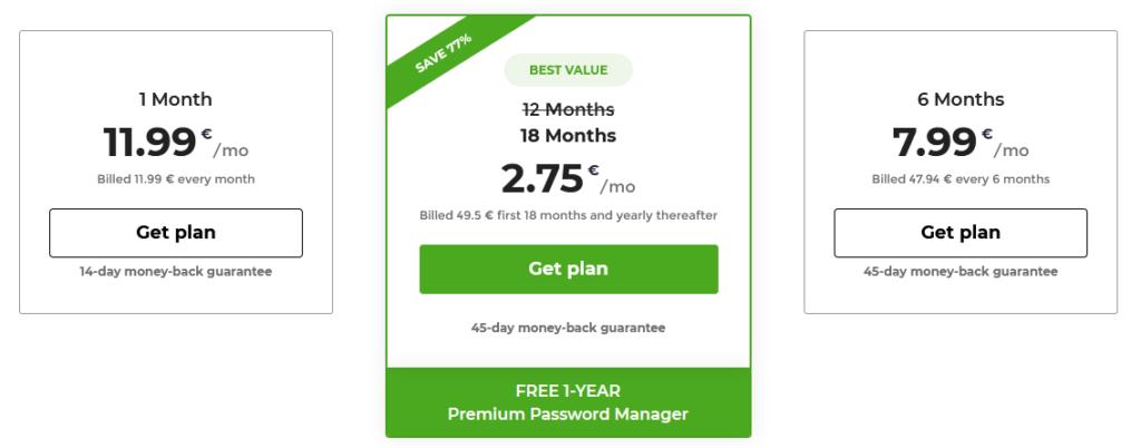 CyberGhost VPN recenze ceník