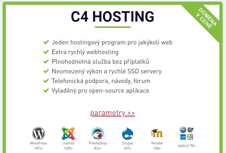 Hosting C4 hlavní výhody hostingu.