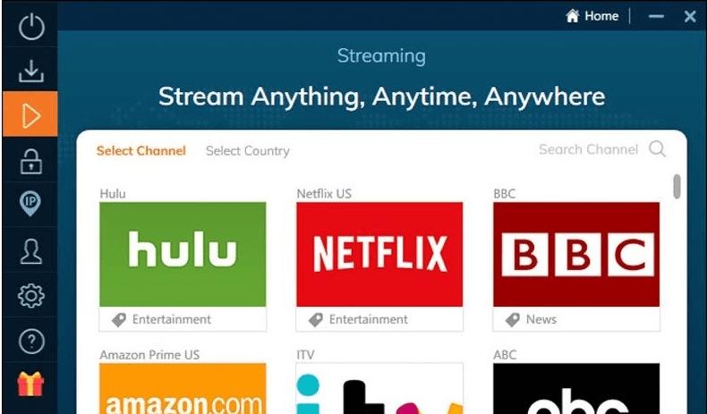 Ivacy VPN - podporované streamovací služby