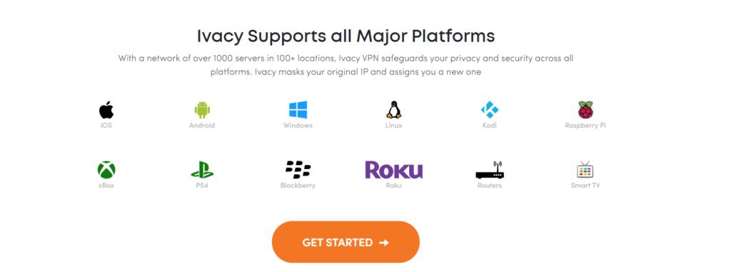 VPN Ivacy podporované platformy a operační systémy