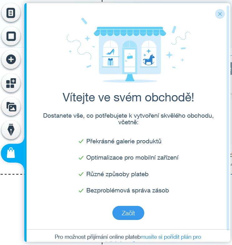 Webnode vs. Wix - Wix můj obchod