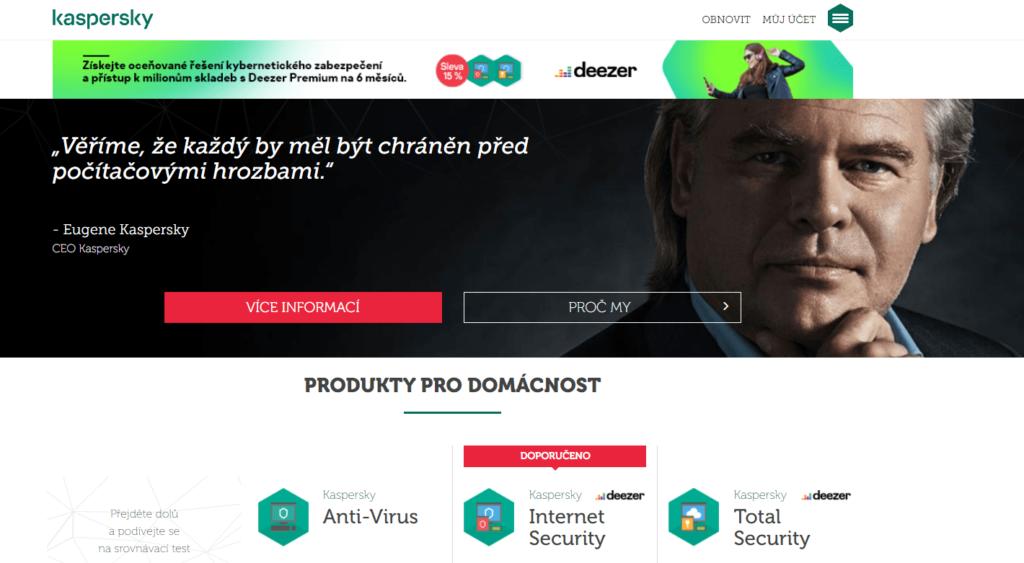 Porovnání antivirusových programů - antivirový program Kaspersky