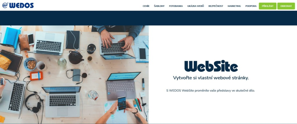 wedos website editor stránek