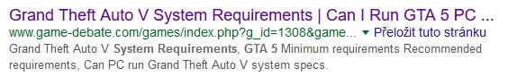 GTA hardwarové požadavky
