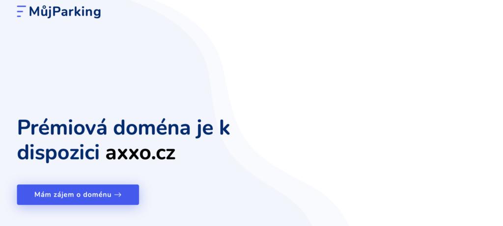 MujParking.cz - prémiová doména na prodej