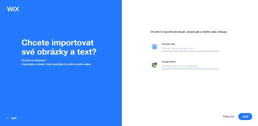 Wix: Chcete importovat obsah z webu, či doplnit Google mapy