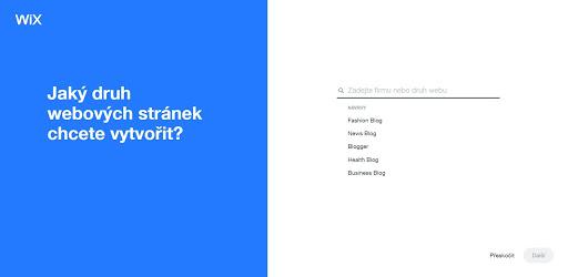Wix: Jaký druh stránek budete chtít vytvořit?