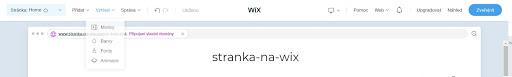 Wix: Upravte vzhled webu podle sebe
