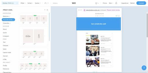 Wix: Přidávejte oddíly a stránky dle libosti