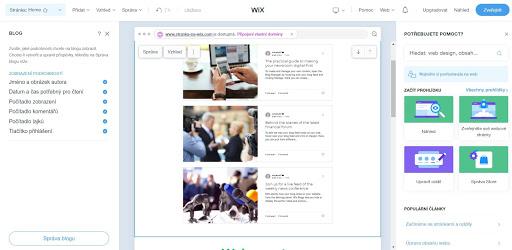 Wix: Přidejte a spravujte firemní blog