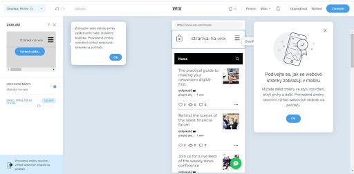 Wix: Takto vypadá responzivní zobrazení