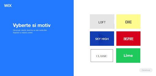 Wix: Vyberte si motiv svého nového webu