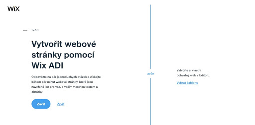 Vytvořit webové stránky pomocí Wix ADI