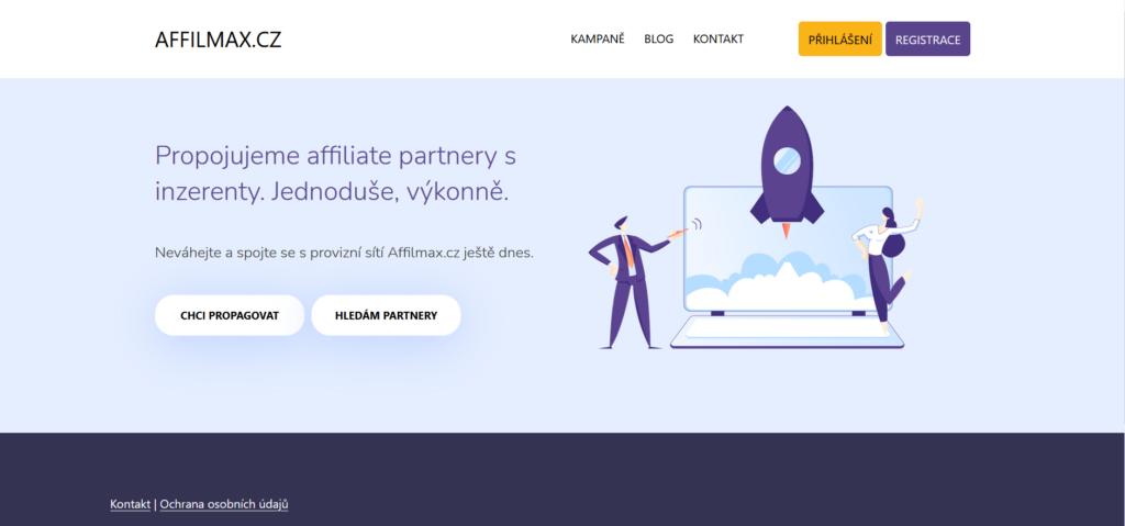 affiliate síť Affilmax.cz