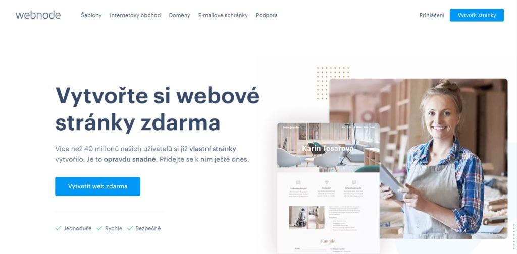 Hlavní stránka Webnode
