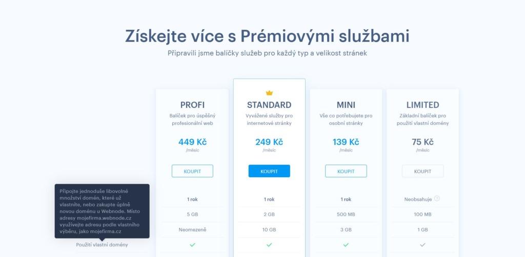 webnode ceník