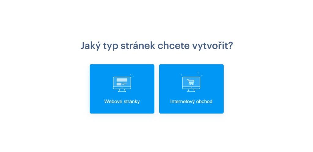 výběr typu webu