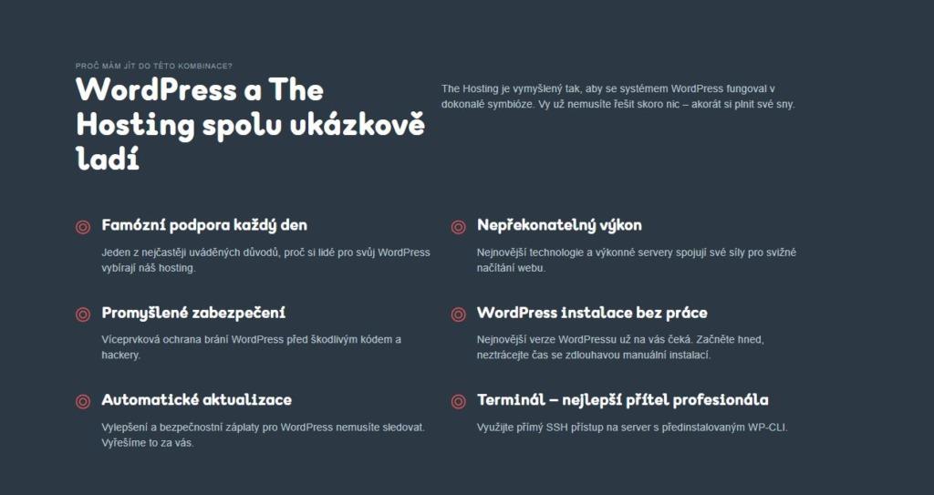 popis wordpress hostingu
